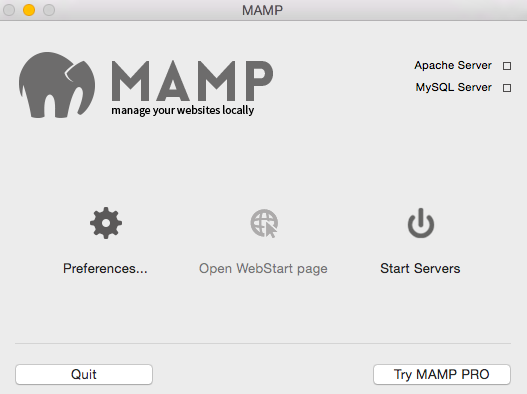 serveur local mamp macosx