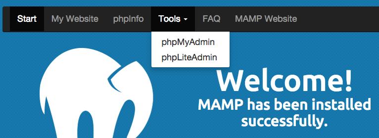 configurer phpmyadmin mamp