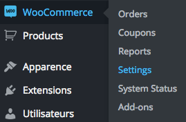 settings in woocommerce