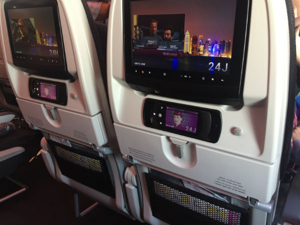 a350 ecran film qatar airways