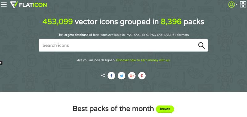 icones flat design gratuites