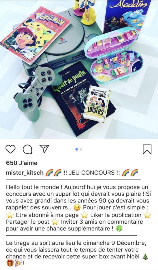 exemple de jeu concours pour instagram