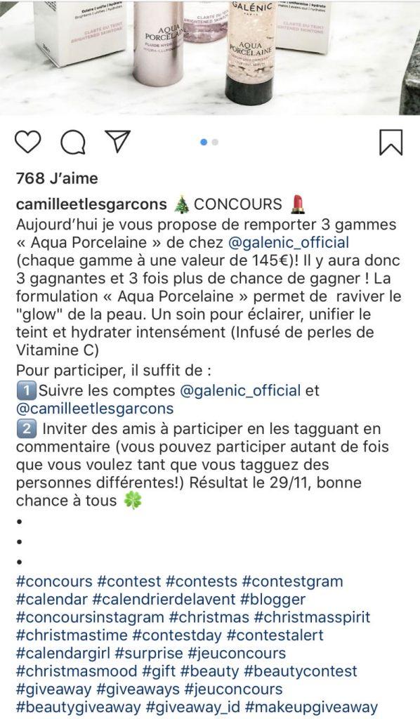tag et hasthtags pour un jeu concours instagram