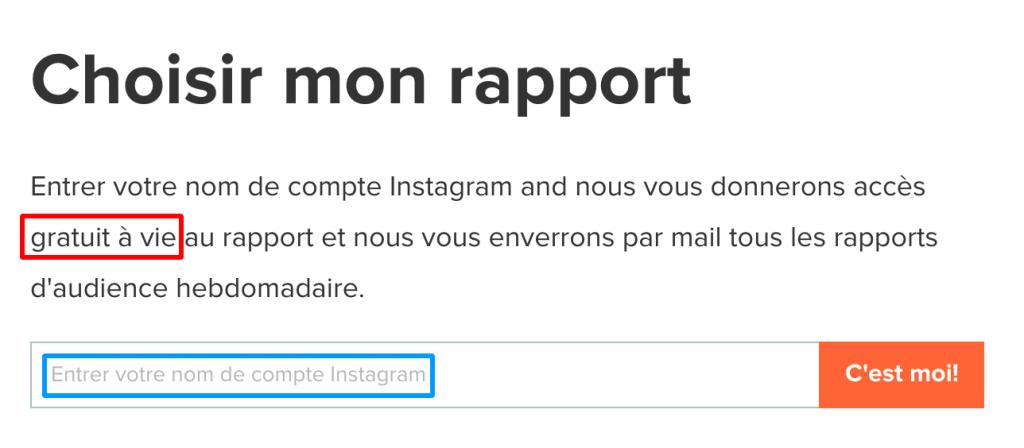 audit et rapport de compte instagram