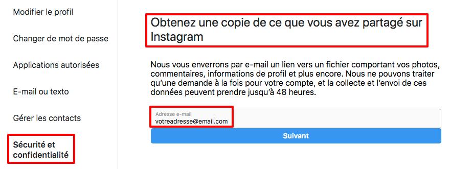 télécharger tout votre contenu Instagram en un clic