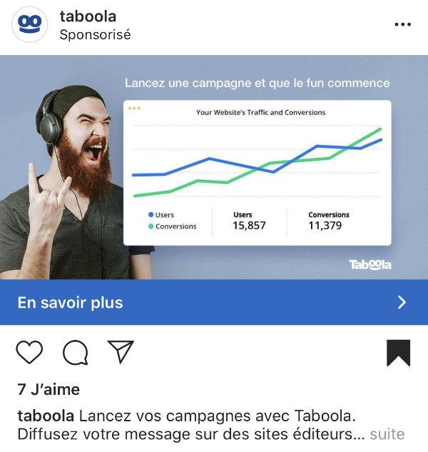 idée de visuel de publicité Instagram