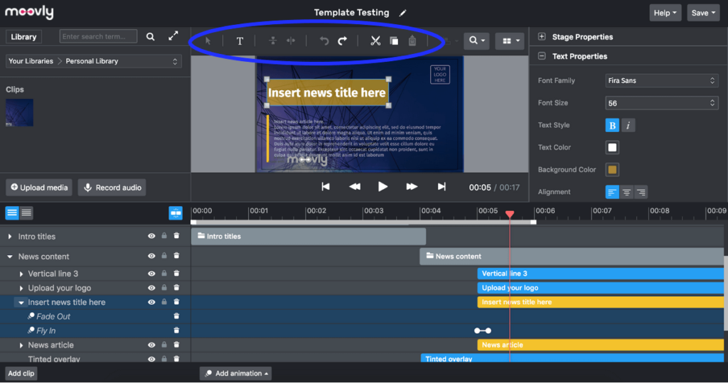 Moovly is a professional video editor, great for Instagram Reels
